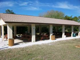 Covered Pavilion at Turtle Beach in Sarasota Fl