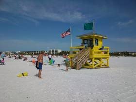 Siesta Beach Life Guard Stations