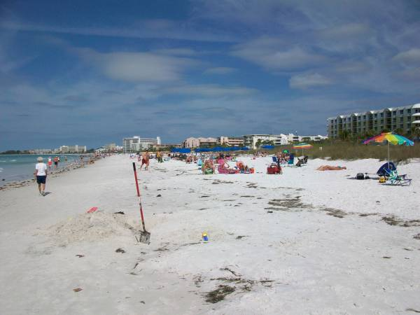 Crescent Beach Has Public & Private Areas