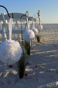 Beach Wedding Aisle Decorations Image