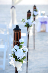 Beach Wedding Option: Tiki Torches
