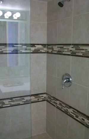 Updated Tiled Showers at Sea Shell
