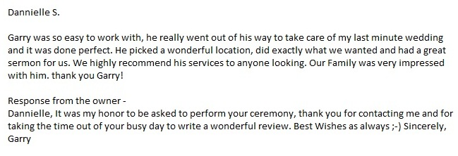 Sarasota Wedding Ceremony Review