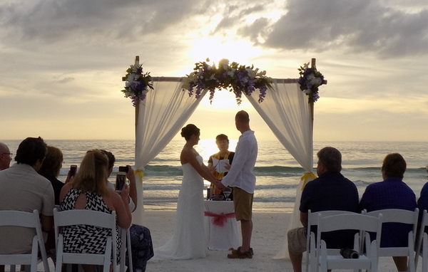 Siesta key Beach Wedding Services Image of Bamboo Arch & Ceremony