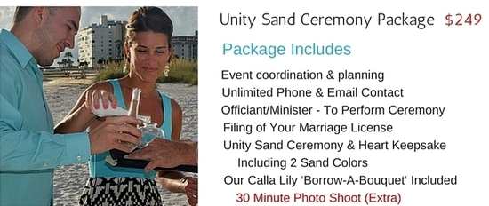 Unity Sand Ceremony Package for Siesta key beaches. Weddings & Vow Renewals. Image