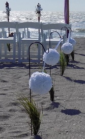 Destination Beach Wedding Package Aisle Decorations Image
