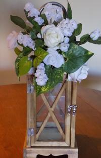 Wood Lantern & Flowers Aisle Upgrade