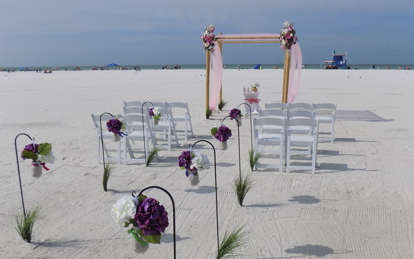 Beach wedding 4 post package for Lido key Image 1