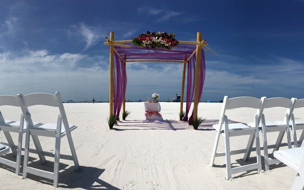Beautiful 4 post wedding arch Sarasota Florida Image 1