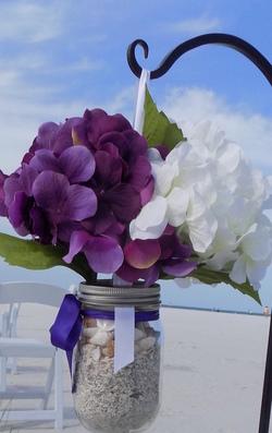 Sarasota beach wedding package option - Custom Floral Hangers Image 1