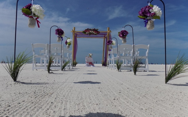 Venice Fl. Beach Wedding Image 1