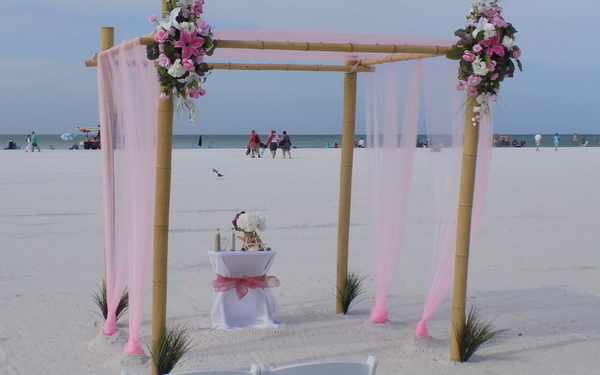 Wedding on the beach Siesta key Florida Image 2