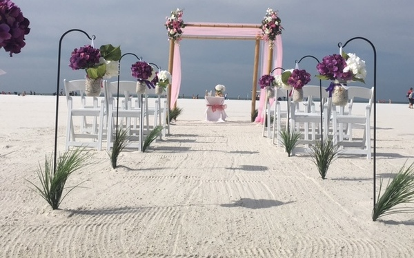 Weddings on the beach in Lido Key Florida Image 2