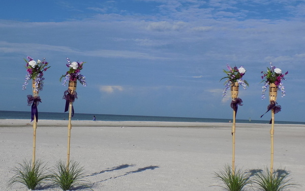 Sarasota & Siesta key Beach Wedding Tiki Package