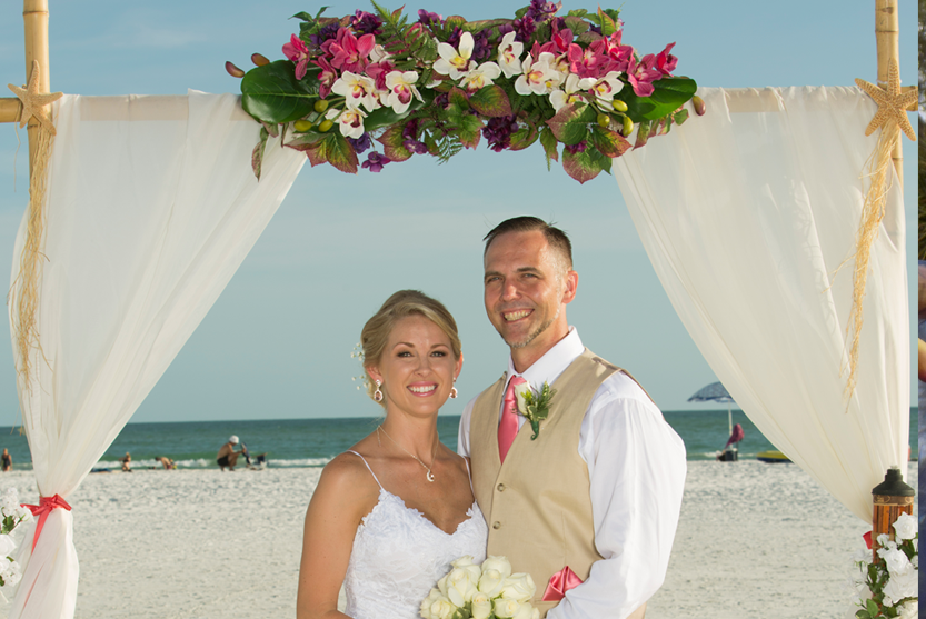 siesta enchantment beach wedding